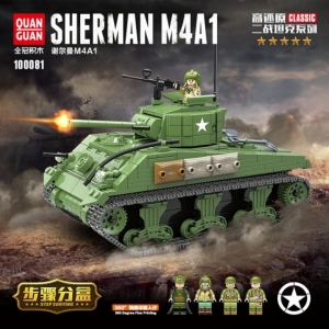 Конструктор танк Sherman M4A1 Quanguan 100081